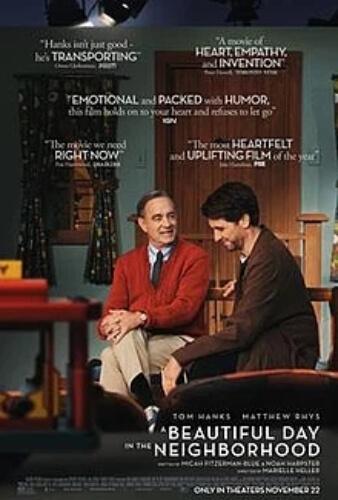 Beautiful Day Neighborhood Biographical tom Hanks Matthew Rhys Susan Kelechi Watson Chris Cooper Film Poster