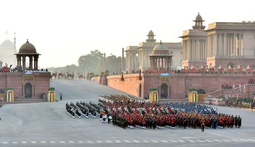 Beating Retreat Ceremony Rajpath Still
