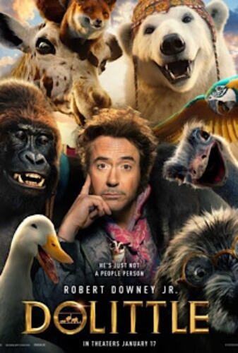 Dolittle Robert Downey Jr Antonio Banderas Michael Sheen Emma Thompson Film Poster