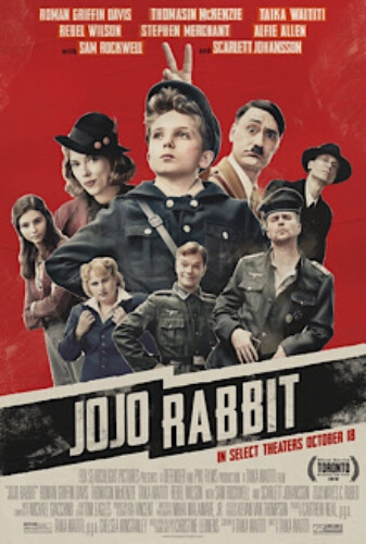 Jojo Rabbit War Comedy Roman Griffin Davis Thomasin McKenzie  Film Poster