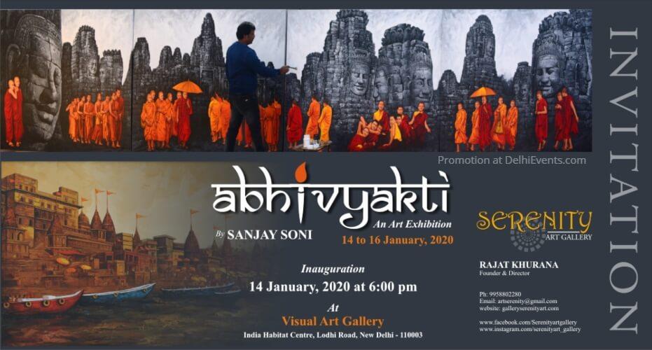 Serenity Art Gallery Abhivyakti Solo Show Sanjay Soni India Habitat Centre Lodhi Road Creative