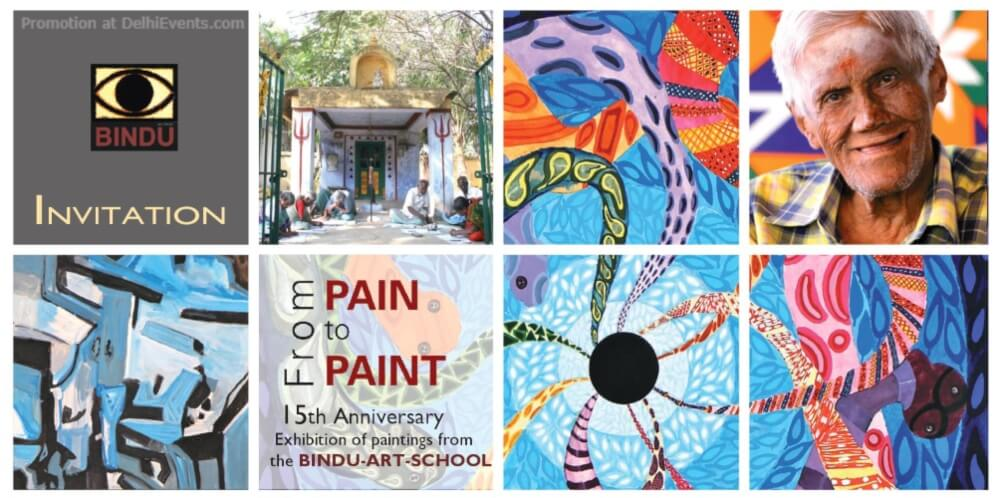 Pain Paint Exhibition Paintings Bindu Art School India International Centre Lodhi Estate Creative
