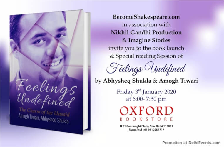 Feeling Undefined Book Launch Oxford Bookstore CP Creative