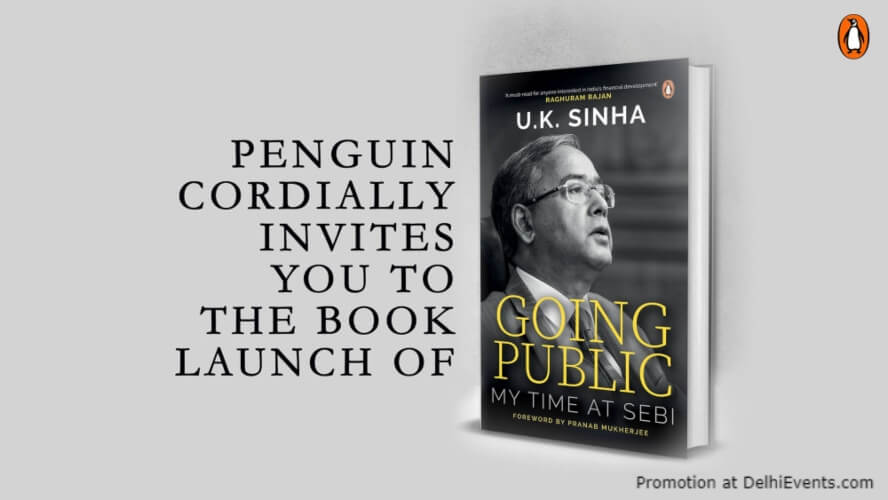 Going Public UK Sinha Book Launch Creative