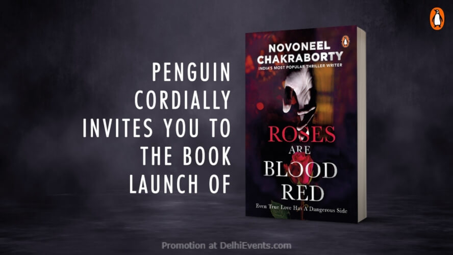 Novoneel Chakrabortys Roses Are Blood Red Book Launch Oxford Bookstore CP Creative