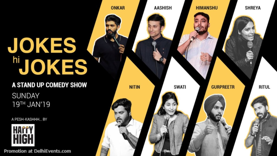 Jokes hi Standup Comedy Show Happy High Shahpur Jat Creative