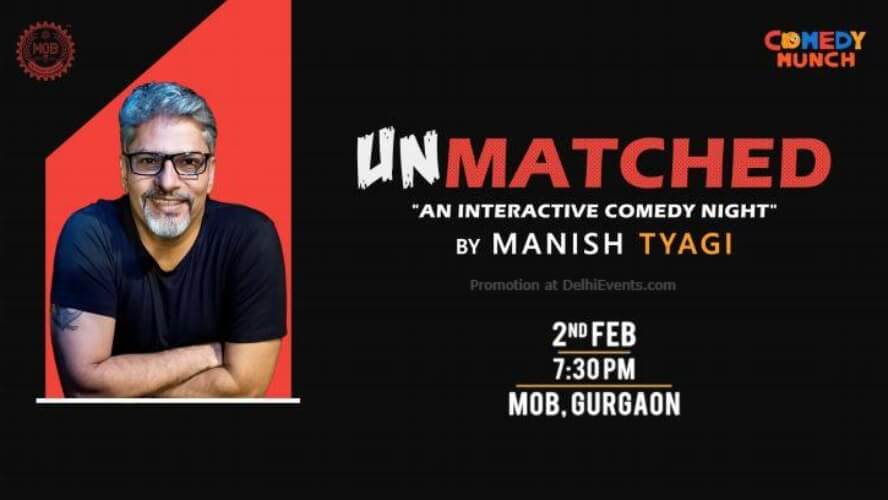 Unmatched Interactive Comedy Night Manish Tyagi Ministry Beer Gurugram Creative