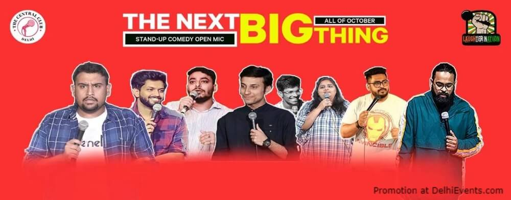 Next Big Thing Stand Up Comedy Open Mic Akshara Theatre Baba Kharak Singh Marg Creative