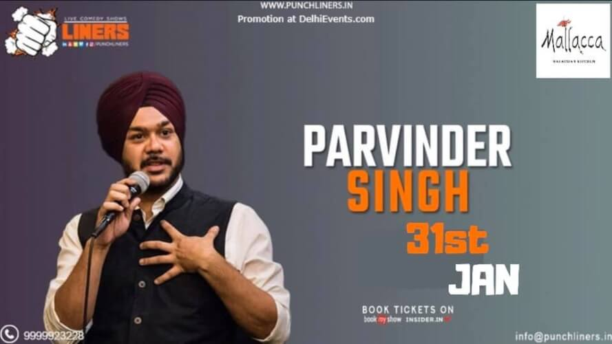 Punchliners Comedy Show Parvinder Singh Mallacca Malaysian Kitchen Gurugram Creative