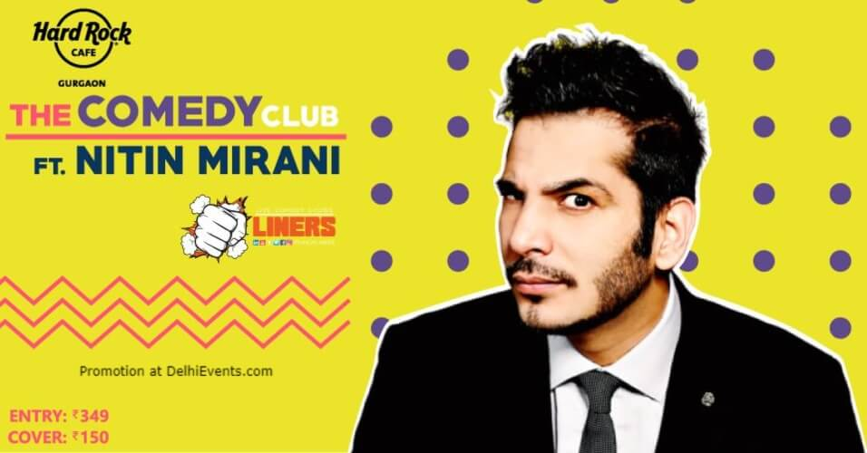Punchliners Comedy Show Nitin Mirani Hard Rock Cafe Gurugram Creative