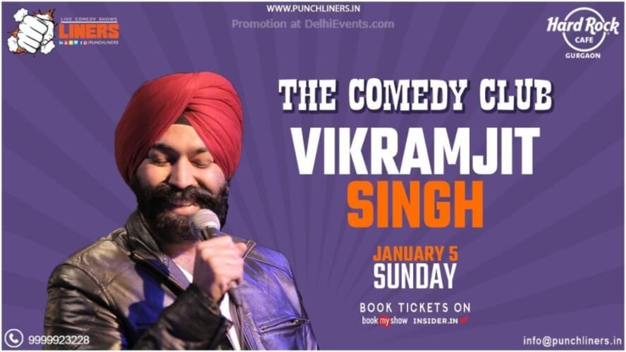 Punchliners Comedy Show Vikramjit Singh Hard Rock Cafe Gurugram Creative