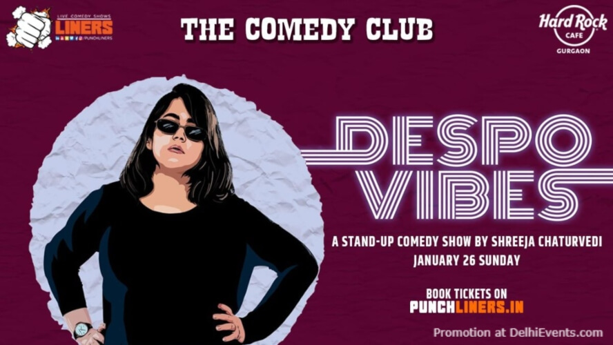 Punchliners Comedy Show Shreeja Chaturvedi Hard Rock Cafe Gurugram Creative