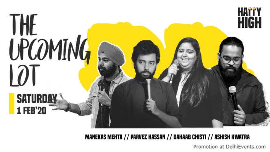 Upcoming Lot Standup Comedy Show Happy High Shahpur Jat Creative