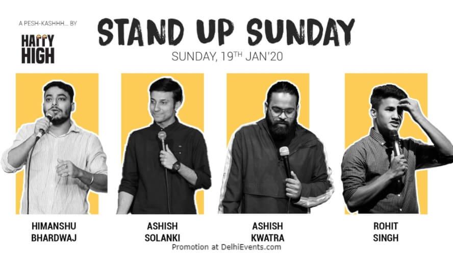 Standup Sunday Comedy Show Happy High Shahpur Jat Creative
