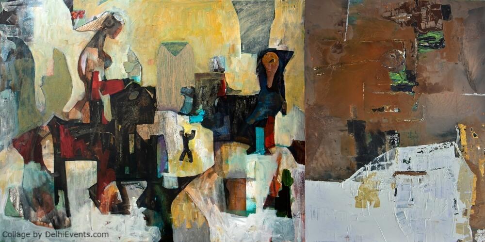Confluence Beyond Boundaries Exhibition Jang Hee Mun Devendra Shukla Artworks