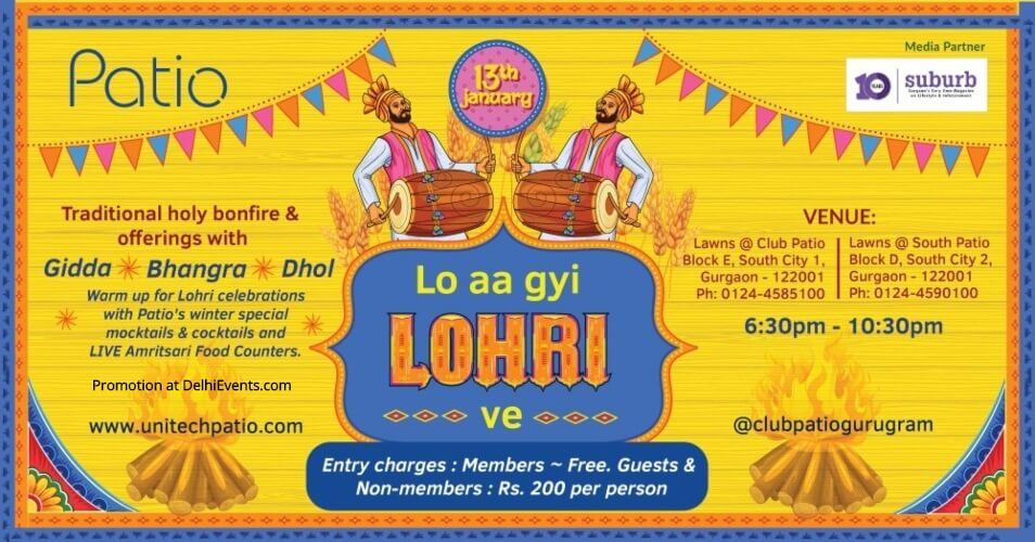 Lohri Celebration Club Patio Gurugram Creative