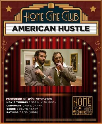 American Hustle Comedy Christian Bale Bradley Cooper Amy Adams Home Delhi Vasant Kunj Creative