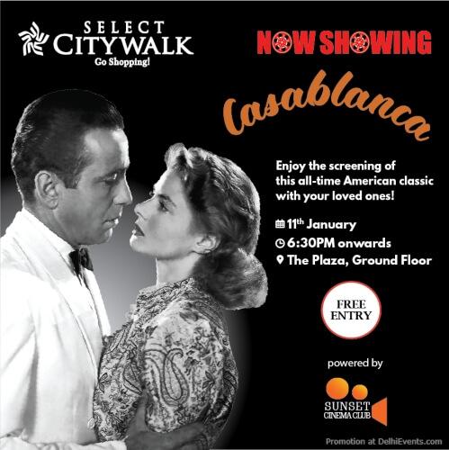 Sunset Cinema Club Casablanca American Classic Select Citywalk Saket Creative