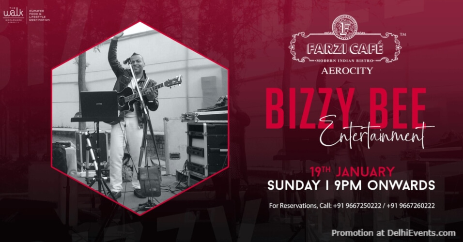 Bizzy Bee Entertainment Farzi Cafe Aerocity Creative