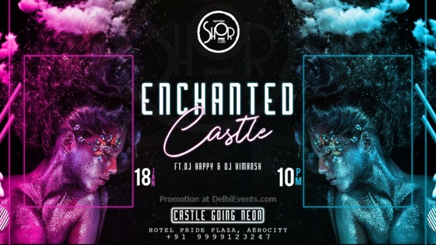 Enchanted Castle Going Neon Imperfecto Shor Aerocity Creative