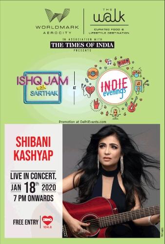 104.8 Ishq Jam Sarthak Shibani Kashyap Concert Walk Worldmark Aerocity Creative