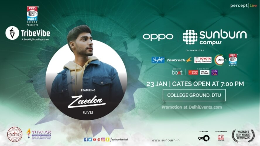 Oppo Sunburn Campus Zaeden Delhi Technological University Rohini Creative