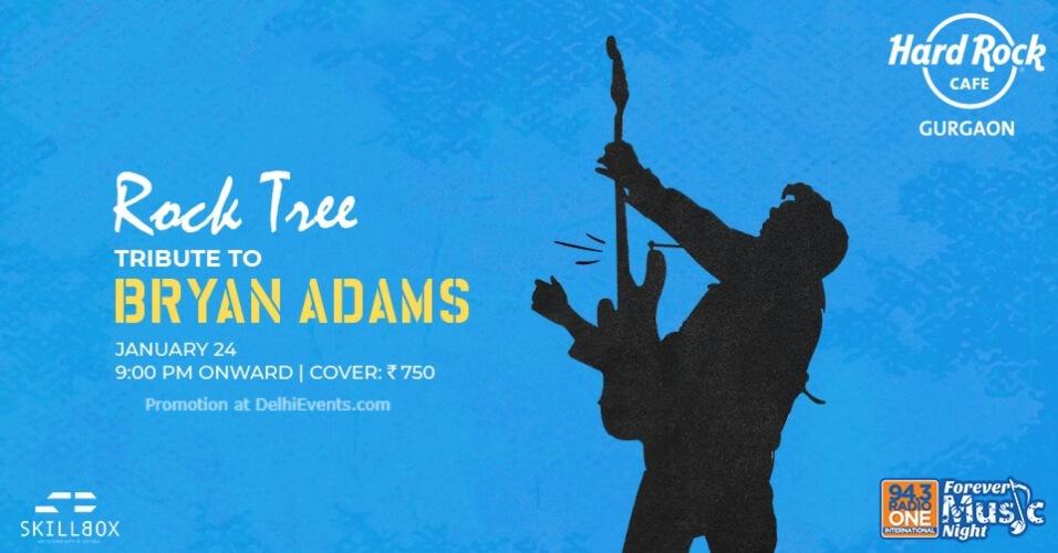 Rock Tree Tribute Bryan Adams Hard Cafe Gurugram Creative