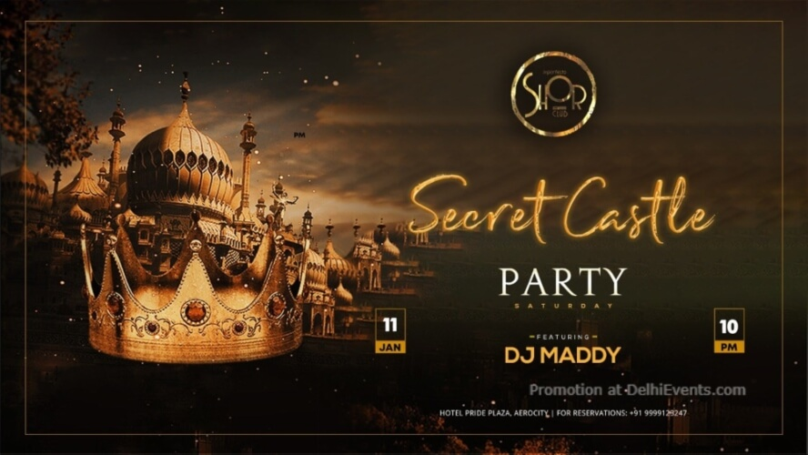 Secret Castle Party DJ Maddy Imperfecto Shor Aerocity Creative