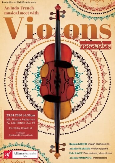 Violin Nomads Fusion Balkan Classical Indian Music Alliance Francaise Lodhi Road Creative
