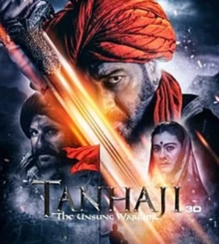 Tanhaji Unsung Warrior Ajay Devgn Saif Ali Khan Kajol  Film Poster