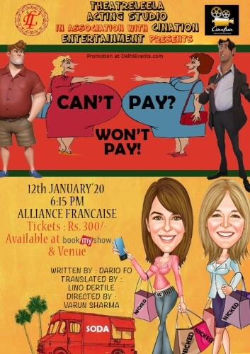 Theatreleela Acting Studio Pay Comedy Play Alliance Francaise Creative