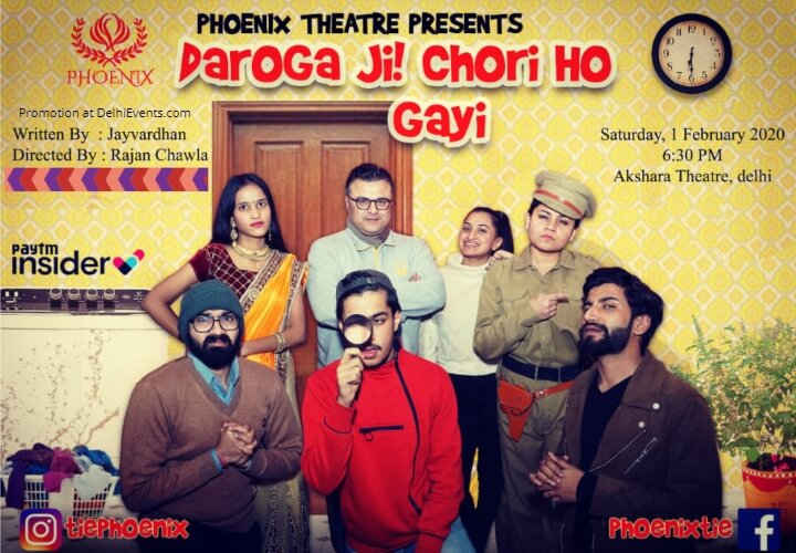 Daroga Ji! Chori Ho Gayi Comedy Play Akshara Theatre Baba Kharak Singh Marg Creative