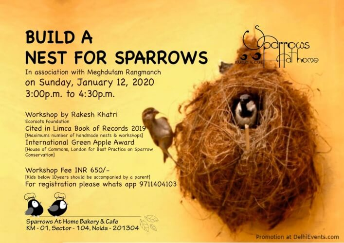 Build Nest For Sparrows At Home Bakery Cafe Sec104 Noida Creative