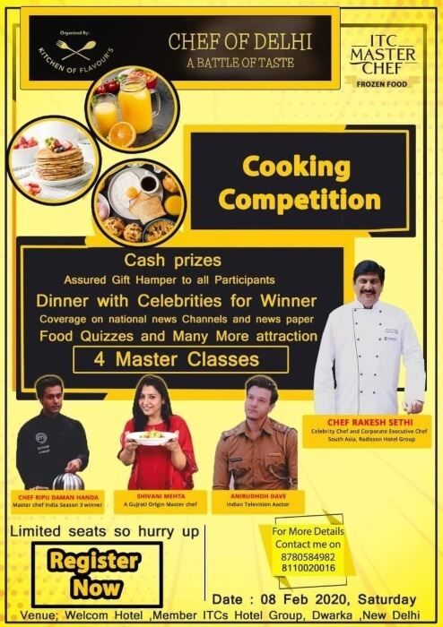 Chef DelhiNCR Cooking Competition Workshop WelcomHotel Dwarka Creative