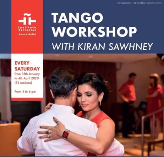 Tango Dance Workshop Kiran Sawhney Instituto Cervantes CP Creative
