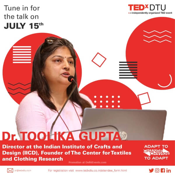 TEDxDTU 2020 online series webinars Dr Toolika Gupta Creative