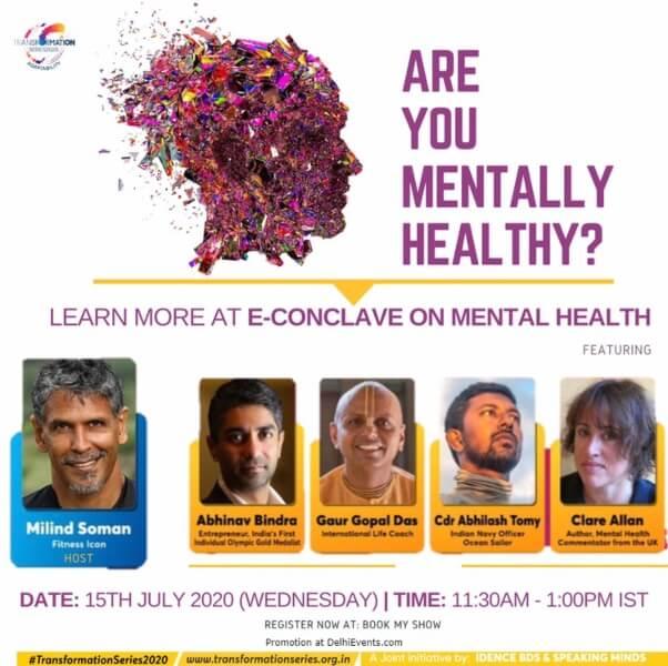 Milind Soman's Transformation Series session Mental Health Creative