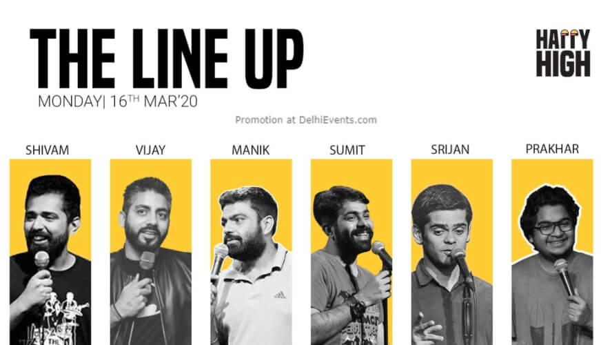 Lineup Standup Comedy Show Happy High Shahpur Jat Creative