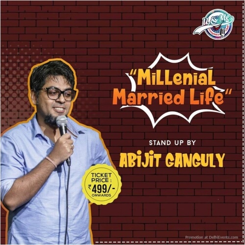 Millenial Married Life Standup Comedy Show Abijit Ganguly Imperfecto Ruin Pub Ansal Plaza Mall Creative