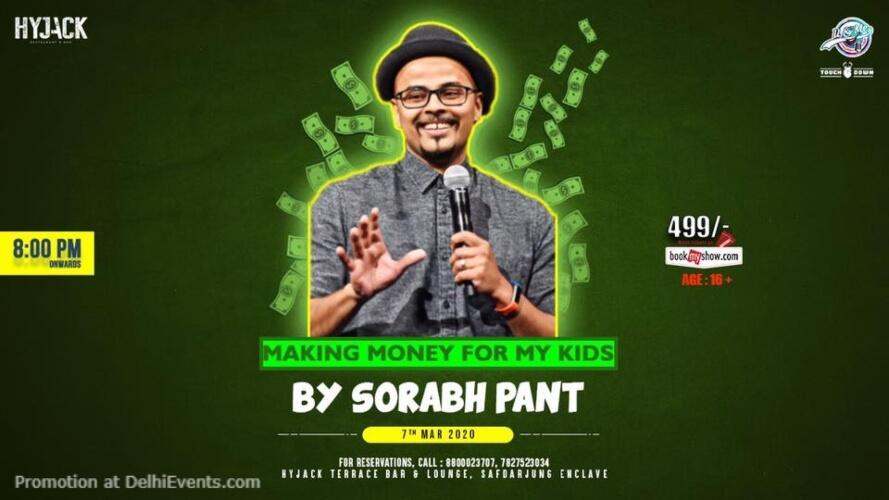 Standup Comedy Sorabh Pant Hyjack Restaurant Bar Safdarjung Enclave Creative
