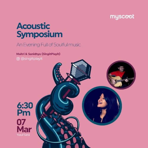 Acoustic Symposium Evening Full Soulful Music Maitri Sanidhya Yusuf Sarai Creative