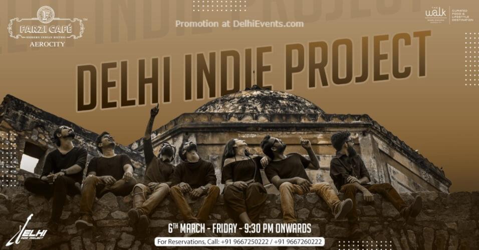 Delhi Indie Project performing live! Farzi Cafe Aerocity Creative