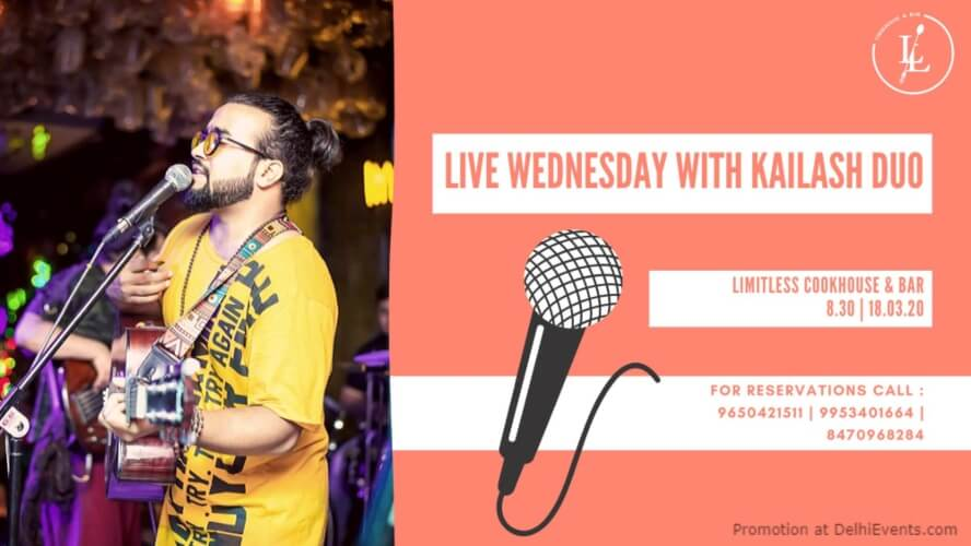 live Wednesday Kailash Duo Ansal Plaza Khel Gaon Marg Creative