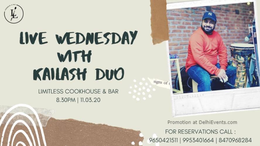 live Wednesday Kailash Duo Ansal Plaza Khel Gaon Marg Creative