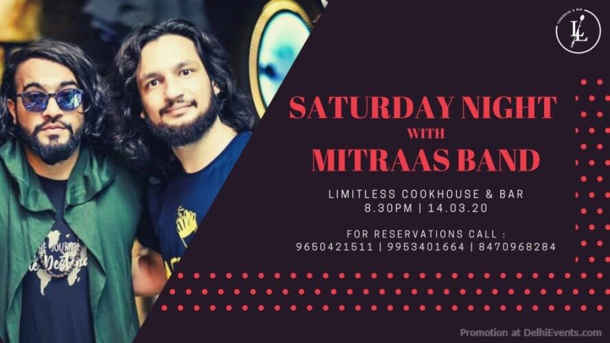 Saturday Night Mitraas Band Ansal Plaza Khel Gaon Marg Creative