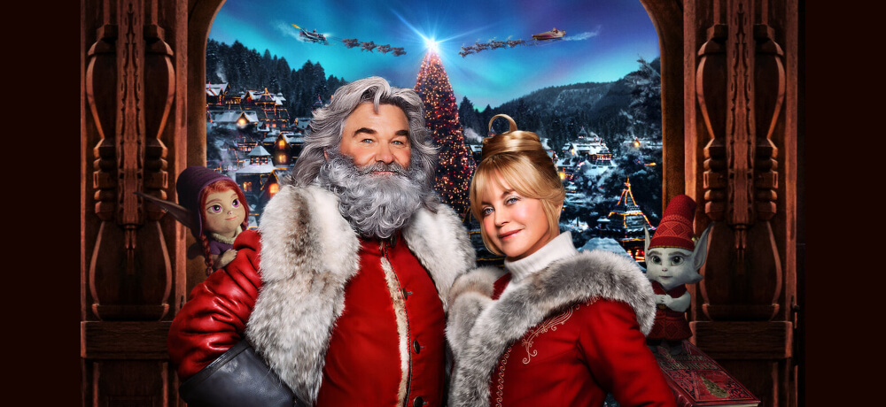 Christmas Chronicles 2 Kurt Russell Goldie Hawn Darby Camp Netflix Creative