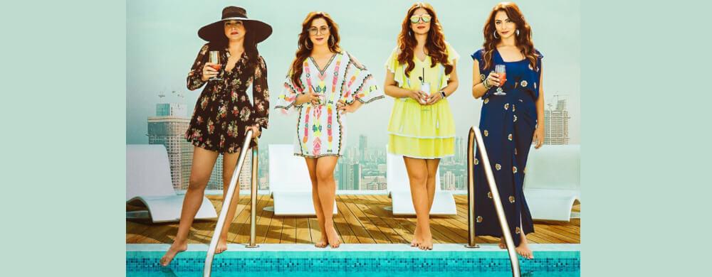 Fabulous lives Bollywood Wives Neelam Kothari Maheep Kapoor Bhavna Pandey Seema Khan Netflix Still