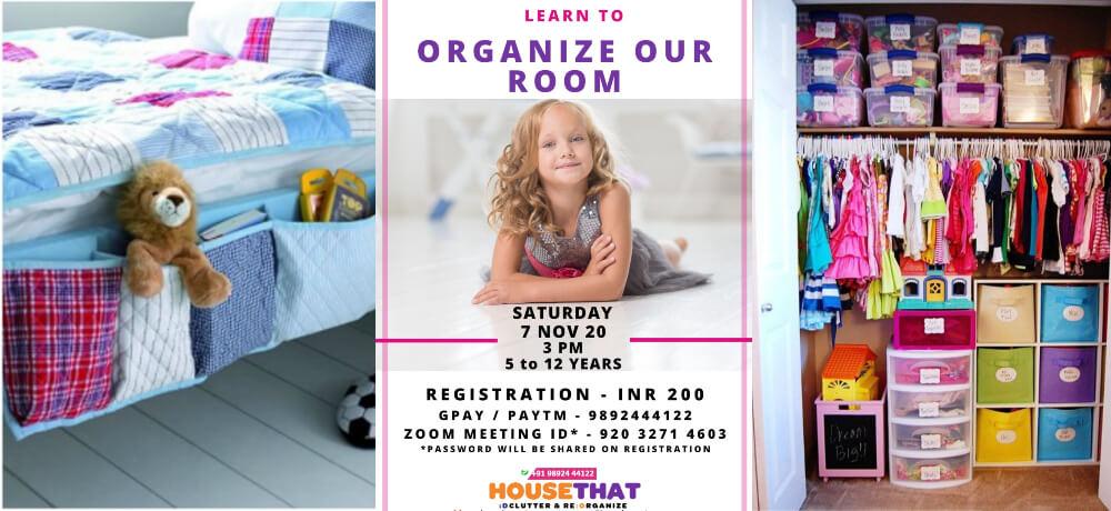 Learn Organize Room Session Kids Neha Bhandari Zoom Creative