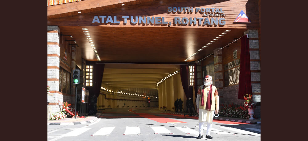 Atal Tunnel Rohtang inauguration Prime Minister Shri Narendra Modi Still
