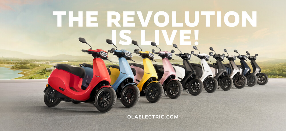 Launch Ola Electric Scooter Creative